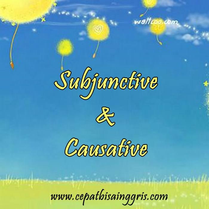 Materi tentang Subjunctive dan Causative